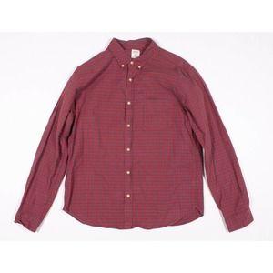 Mens J Crew Slim Plaid Flannel Button Shirt